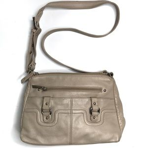 Stone & Co Taupe Leather Shoulder /Crossbody Bag